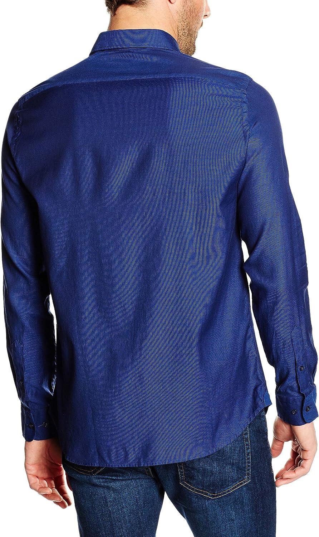 Pedro del Hierro Dobby Melange Liso TB/D Camisa para Hombre
