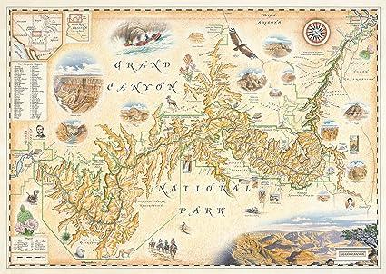 Amazon.com: The Grand Canyon National Park Map - Map Art: Prints ...