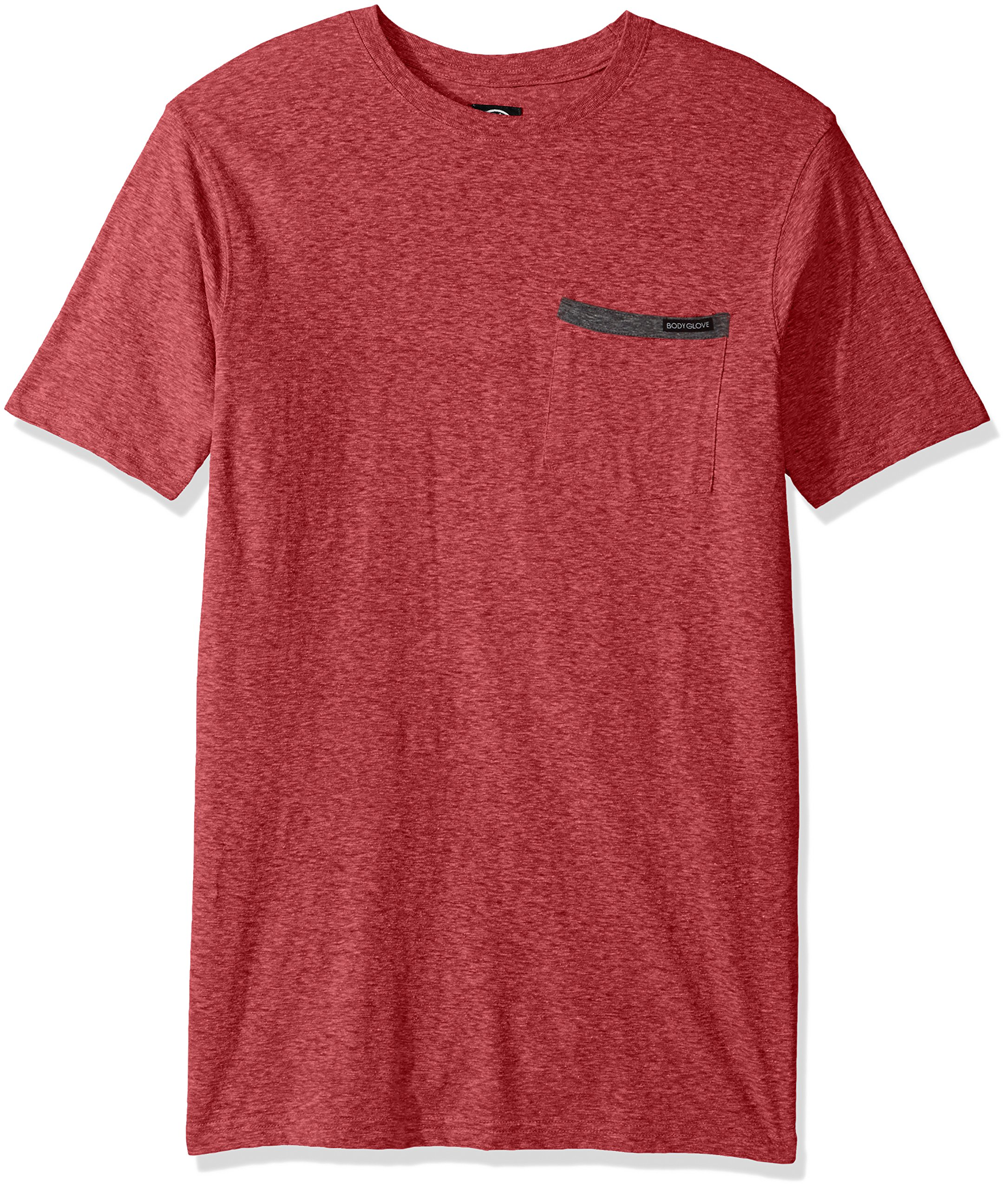 Body Glove Men's Cotton Polyester Pocket Short Sleeve T-Shirt, Red Snow Heather, X-Large by Body Glove (Image #1)