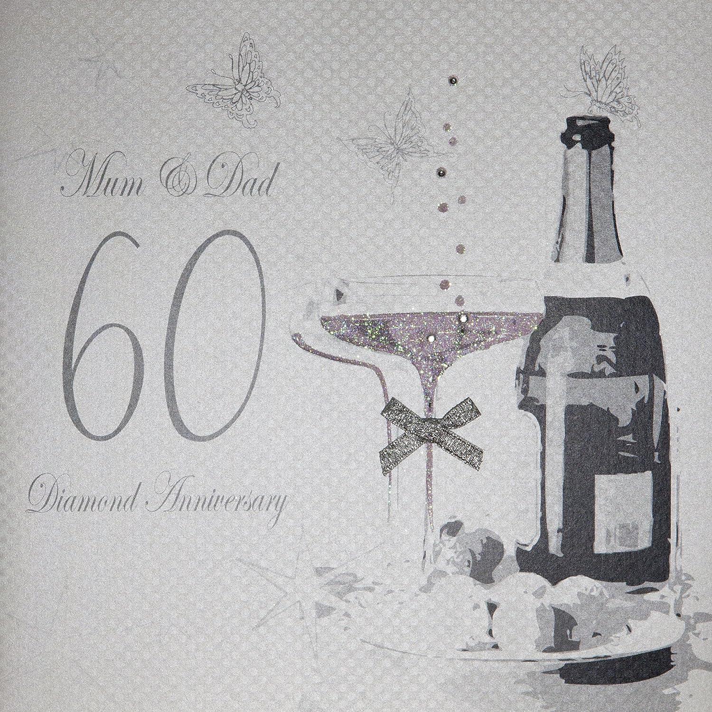 Auguri Anniversario Matrimonio Genitori : White cotton cards biglietto di auguri realizzato a mano per
