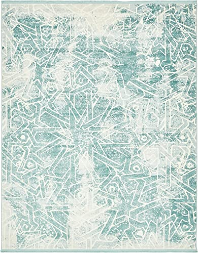 Unique Loom New Classical Collection Traditional Distressed Vintage Classic Blue Area Rug 8 0 x 10 0