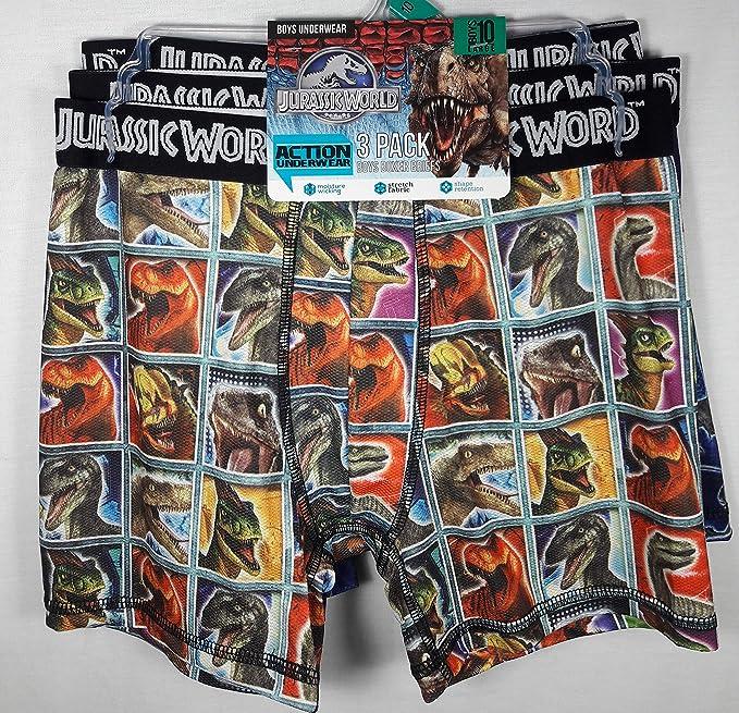 437ea76324 Jurassic World Jurassic Park Action Underwear 3 Pack Boxer Briefs - Small