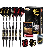 Ignat Games Steel Tip Darts - Professional Darts Set with Aluminum Shafts and 2 Style Flights + Dart Sharpener + Innovative Case