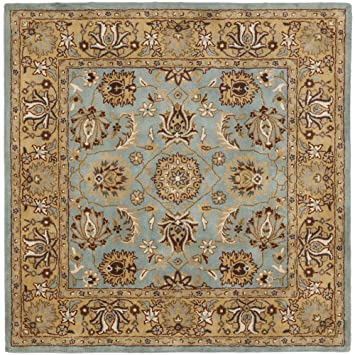 safavieh heritage collection hg958a handmade traditional oriental blue and gold wool square area rug 6