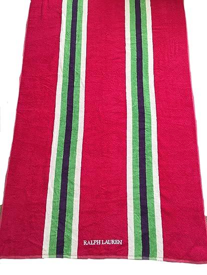 Ralph Lauren harbourview rayas rosa toalla de playa 100% algodón