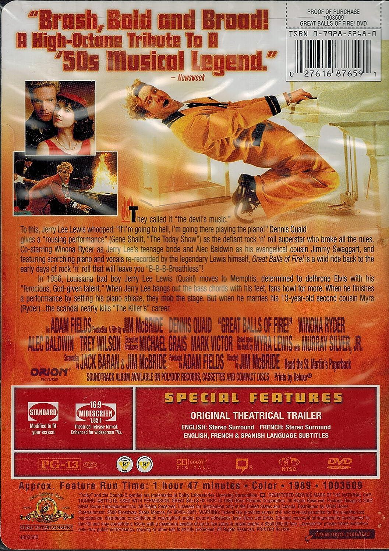 Amazon com: Great Balls of Fire!: Dennis Quaid, Winona Ryder, John