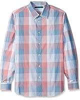 Perry Ellis Men's Ombre Space Dye Plaid Shirt