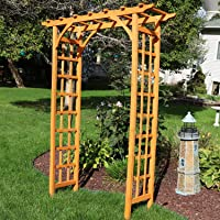 Sunnydaze Wooden Outdoor Garden Arbor - 57 x 20 x 78 Inches