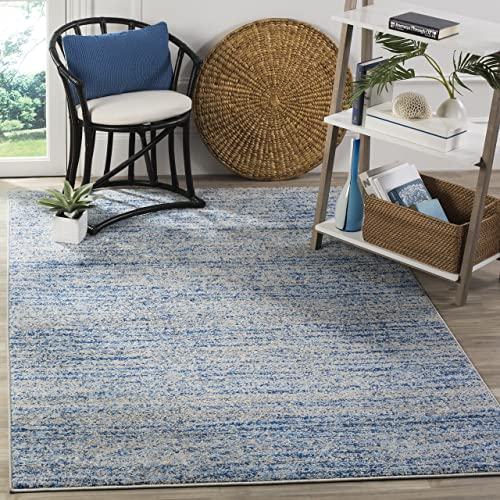 Safavieh Adirondack Collection ADR117D Blue and Silver Contemporary Area Rug 4 x 6