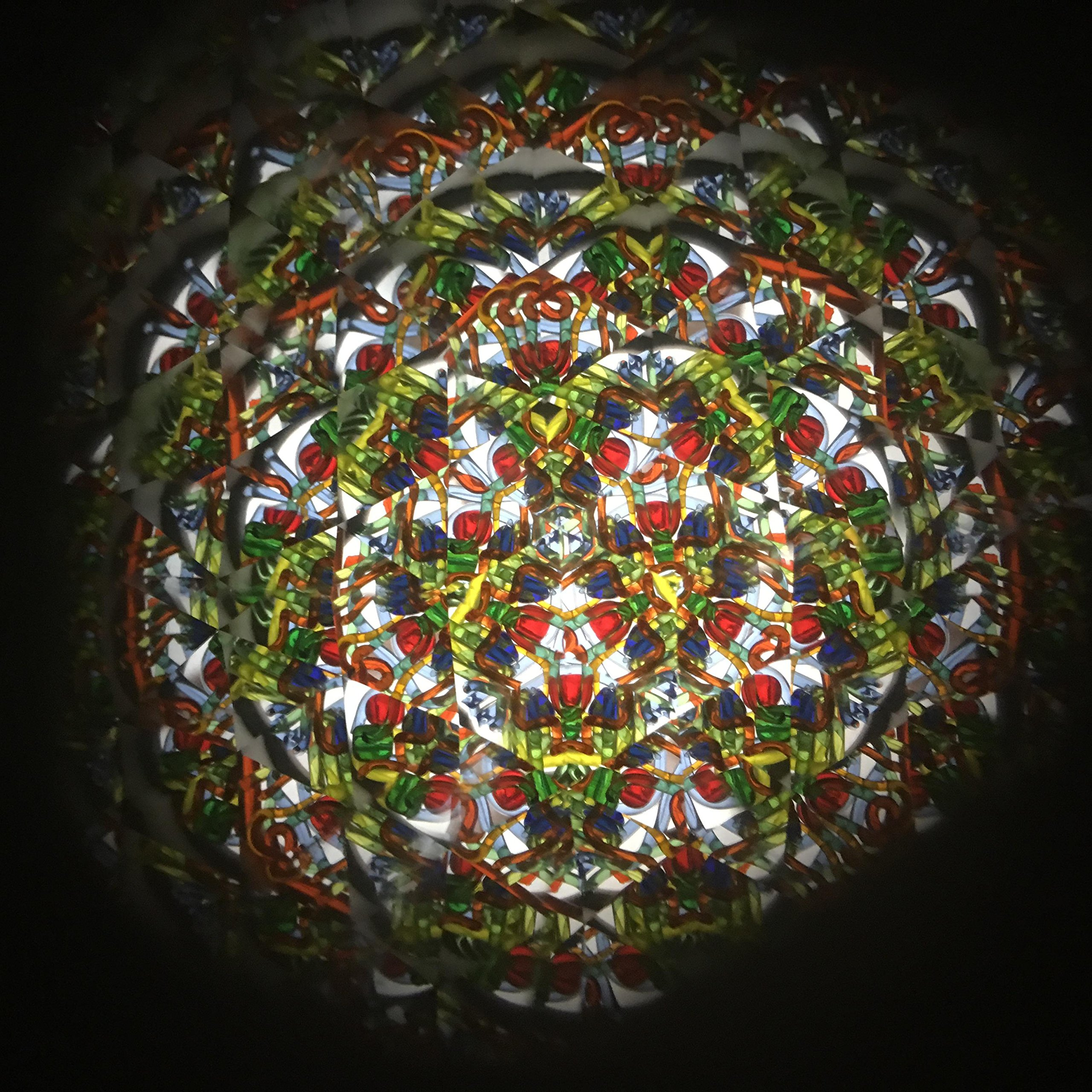 N & J Kaleidoscope in Solid Walnut Wood, 5 1/2 inch Barrel, Separate Beaded Turning Chamber by N & J (Image #7)