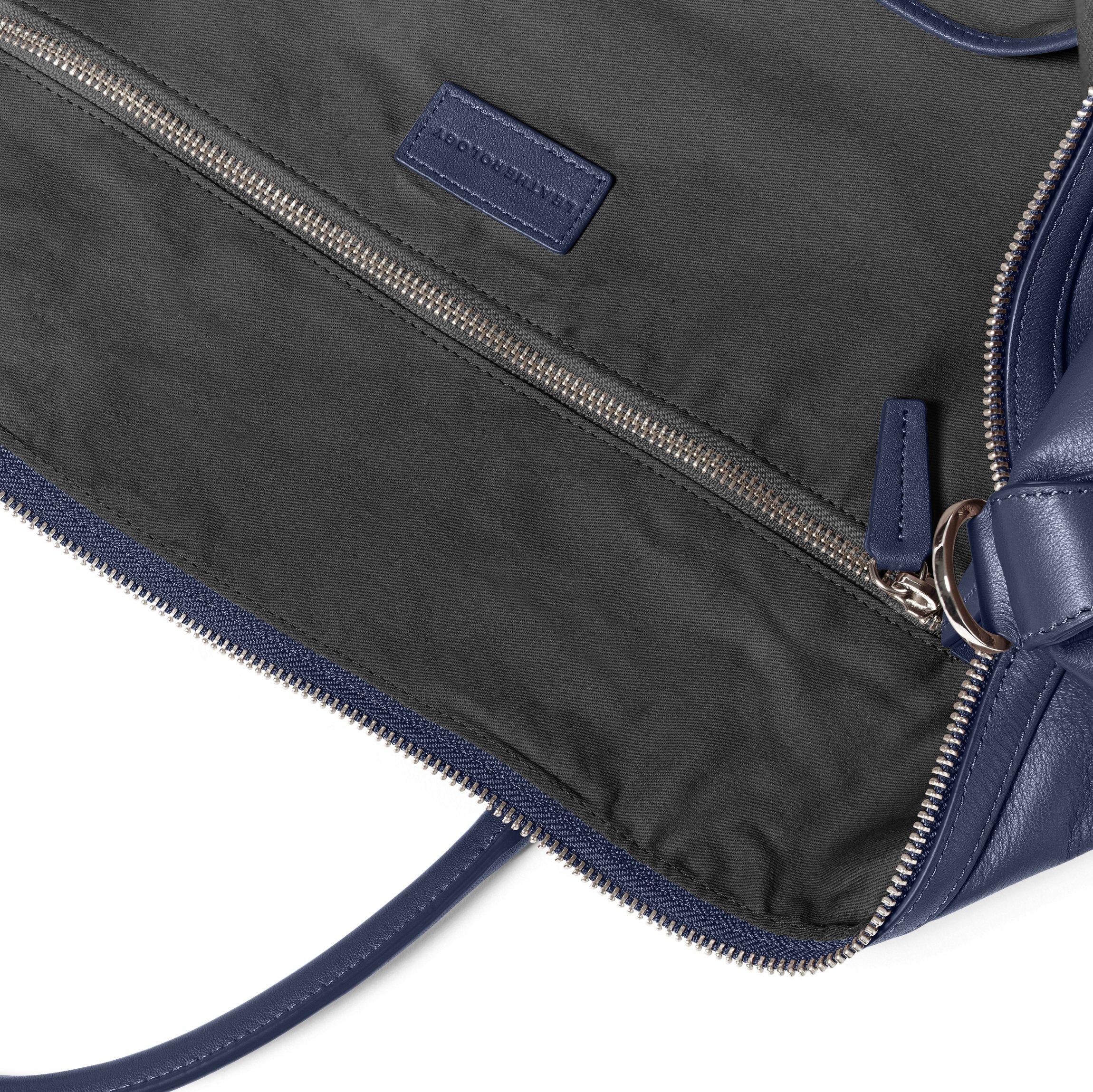 Kessler Medium Duffle - Full Grain Leather Leather - Navy (blue) by Leatherology (Image #3)
