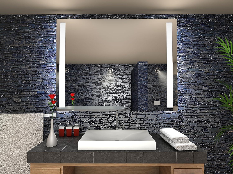Paris Badspiegel mit LED Beleuchtung - B  40 cm x H  50 cm