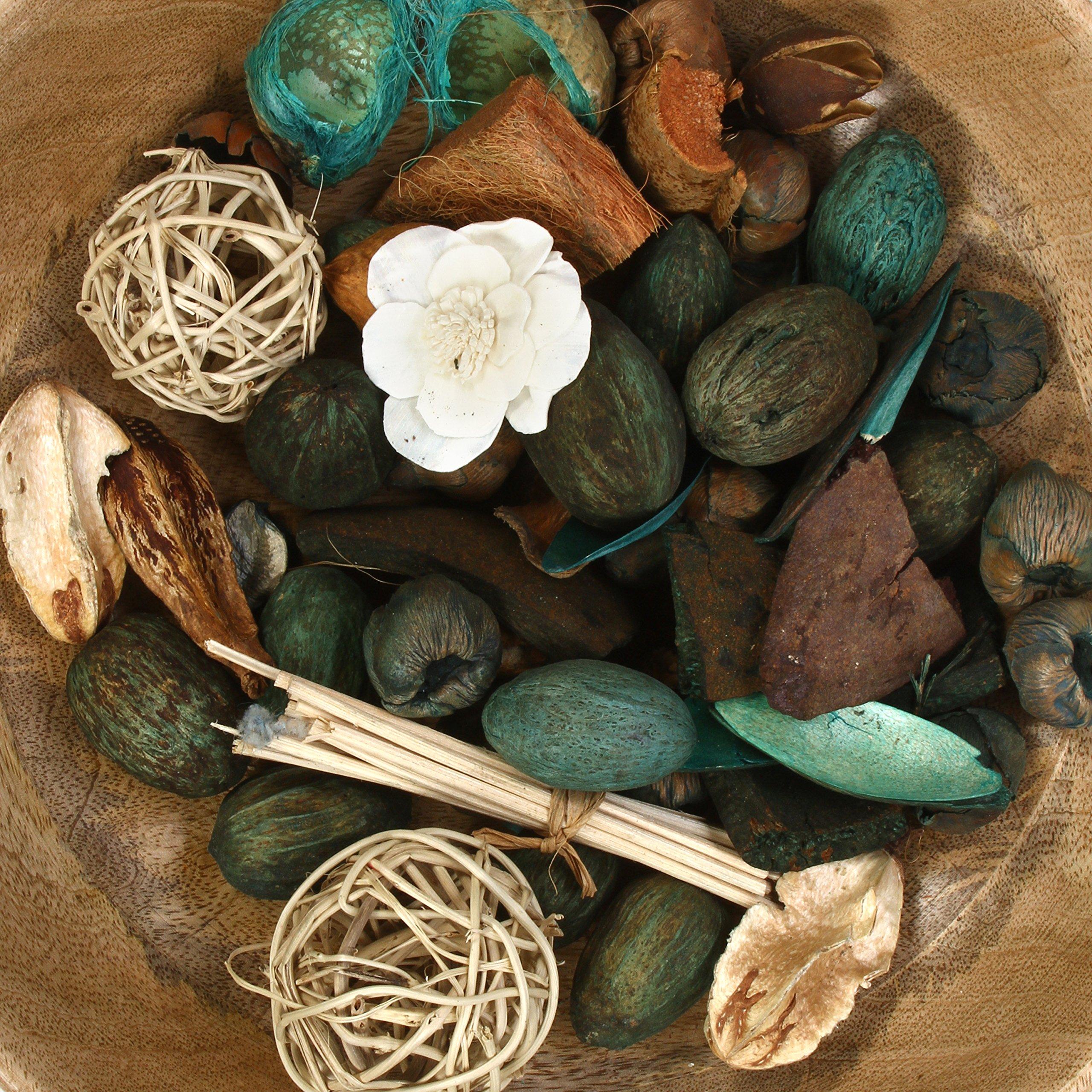 Hosley Set of 6 Bags Eucalyptus Mint Chunky Potpourri 5 Ounce Each. Ideal for Party Favor Weddings spa Reiki Meditation Bathroom Settings. O4 by Hosley (Image #5)