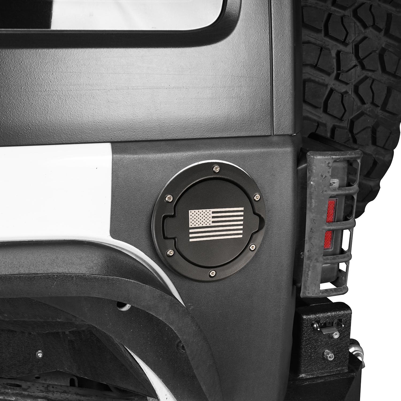 Gas Cap Fuel Door Gas Tank Cover for Jeep Wrangler JK /& Unlimited Sport Rubicon Sahara 2007-2018