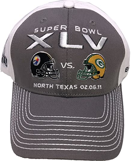 Image Unavailable. Image not available for. Color  Reebok Super Bowl XLV  Steelers vs Packers Stadium Collection Adult Cap Hat c179107cd