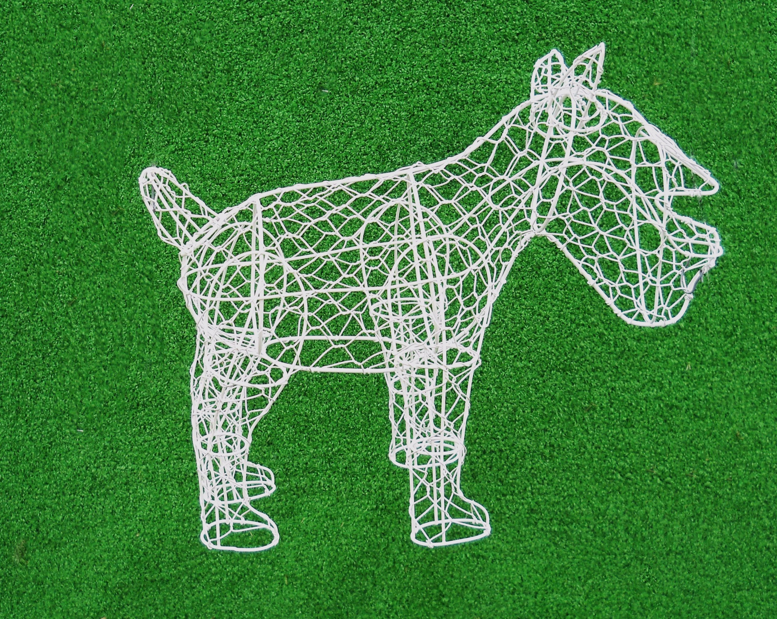 Schnauzer 12 inches high x 14 inches long x 6 inches wide Indoor Outdoor Hand Wired Animal Topiary Frame Structure