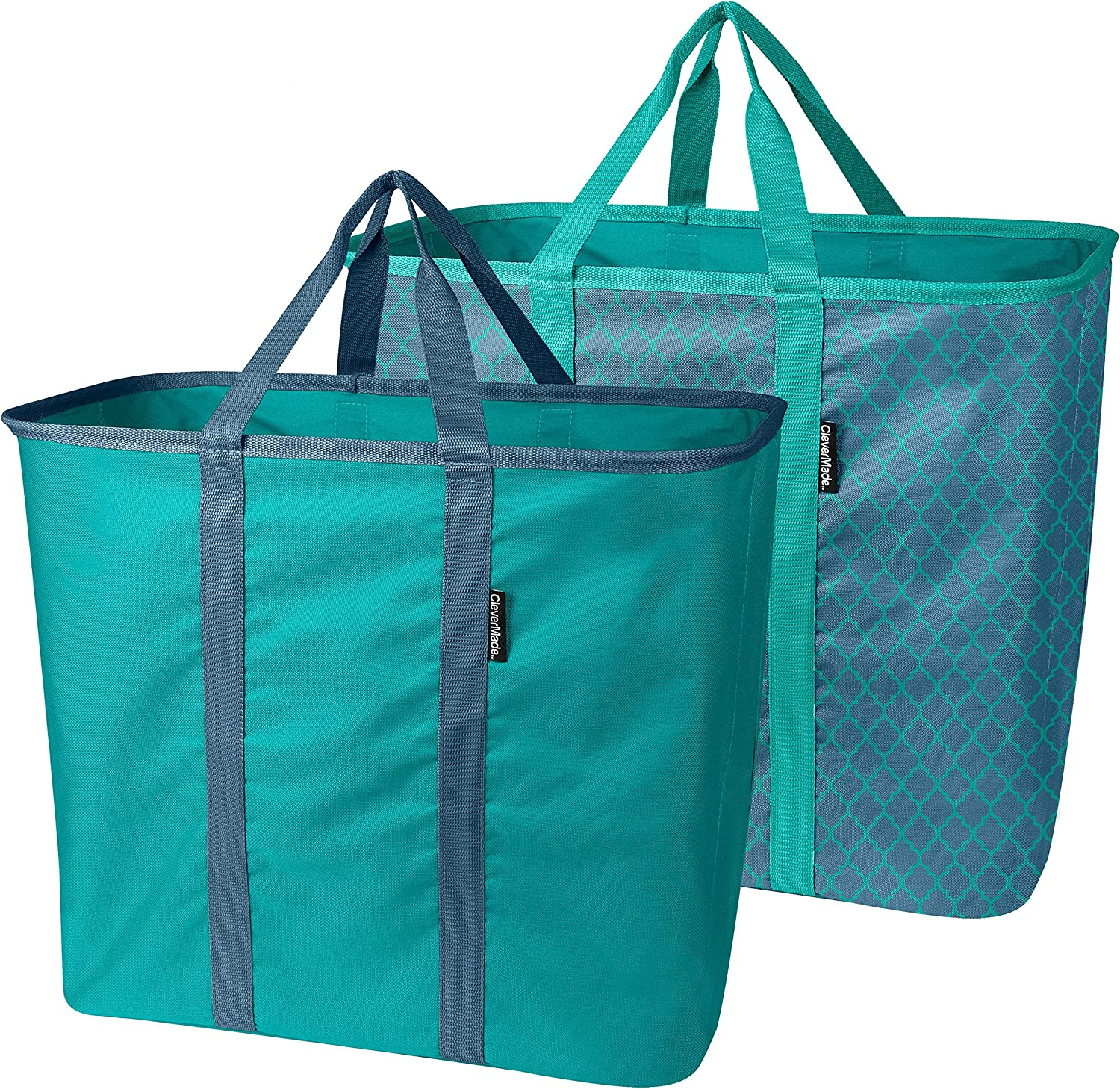 CleverMade Laundry Basket, Extra Large, One Size, Denim/Teal
