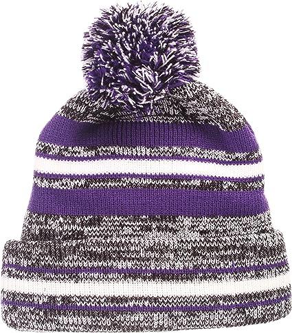 Zephyr Finish Line Arctic Cuff Beanie Hat with Pom Pom NCAA ZHATS Fashion Cuffed Winter Knit Cap