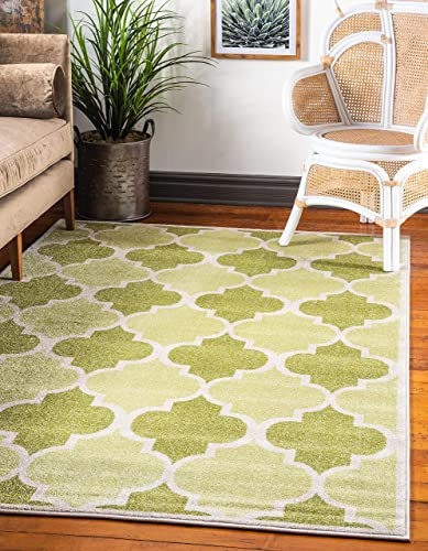 Cheap Unique Loom Trellis Collection Moroccan Lattice Green Area Rug 9' 0 x 12' 0 living room rug for sale