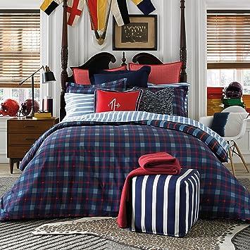 tommy hilfiger boston plaid comforter set twin