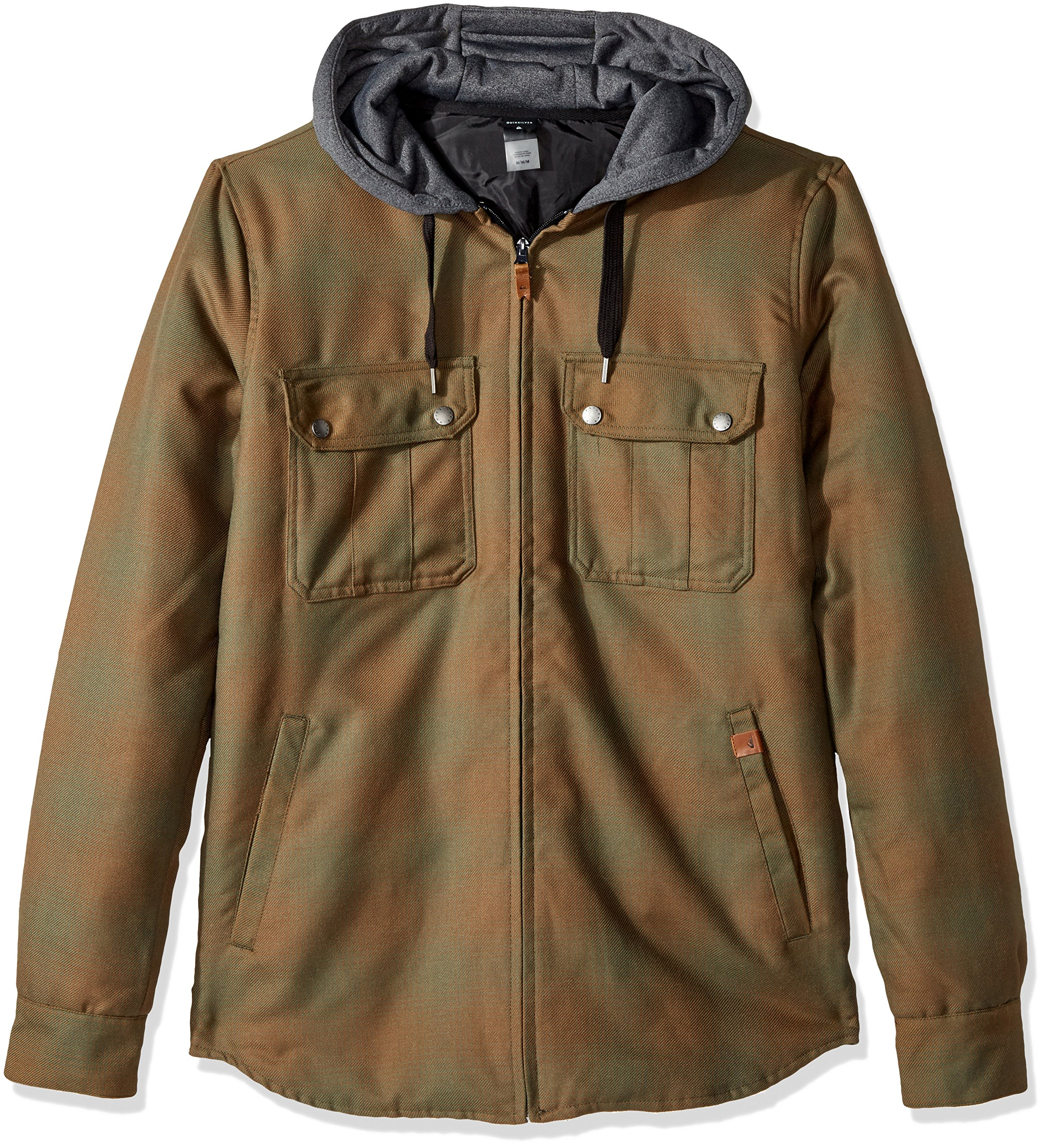 Quiksilver Men's Connector Riding Snowboard Ski Insulated Flannel Shirt, Cub, XXL by Quiksilver