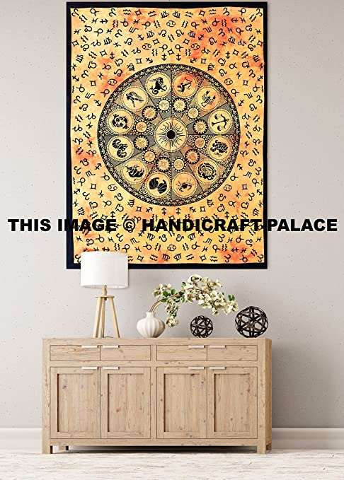 Amazon.com: Astrología Mandala Tapestry Horóscopo Tapiz ...