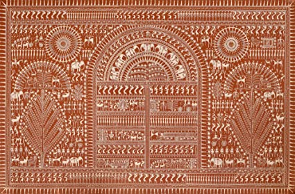 Exotic india life in warli warli painting on patti folk art of exotic india life in warli warli painting on patti folk art of the warli thecheapjerseys Images