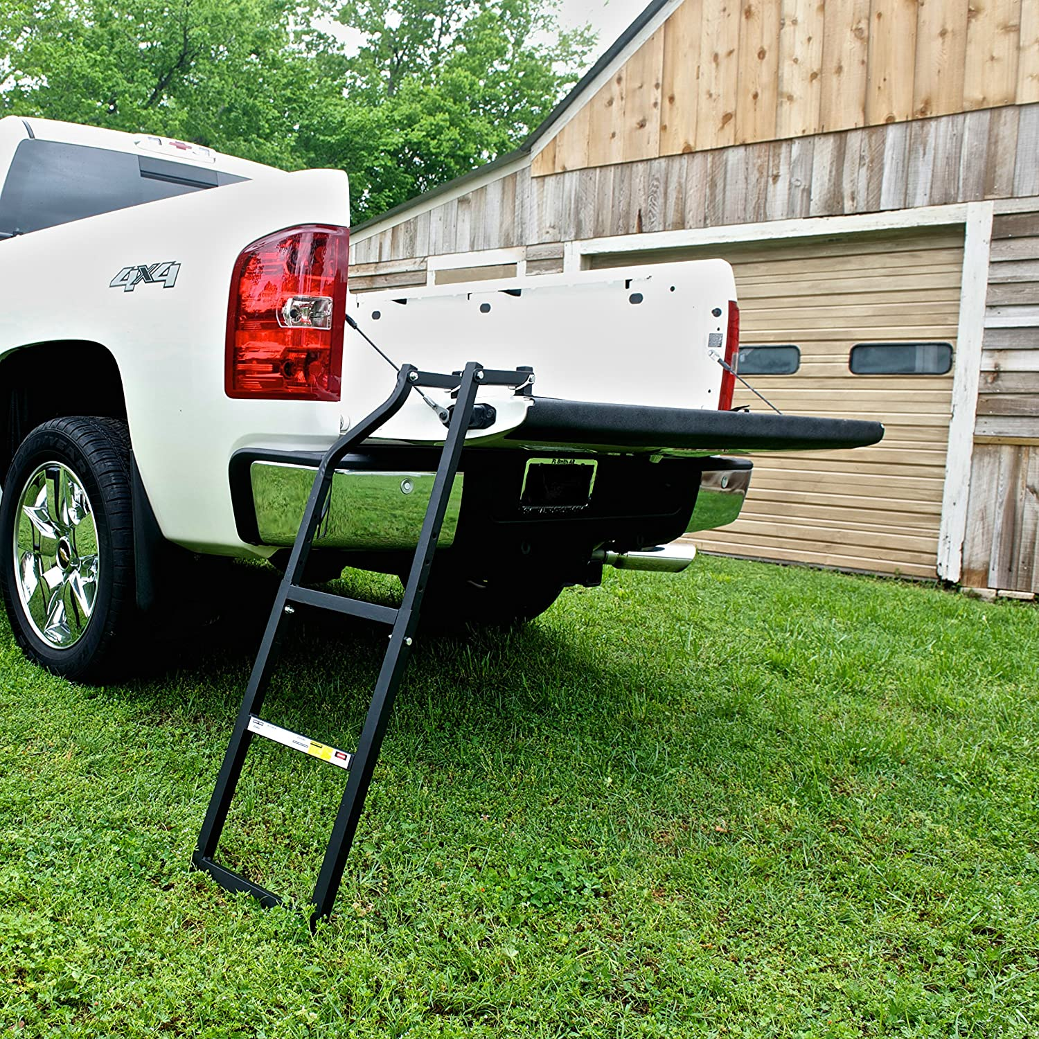 amazon com traxion 5 100 tailgate ladder automotive