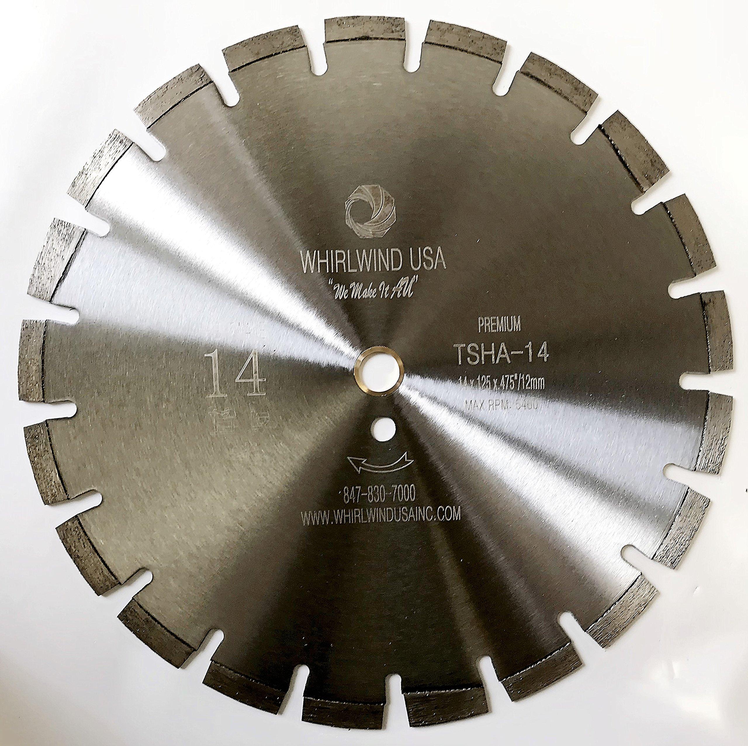 Disco de Diamante WHIRLWIND segmentadas con láser de corte por asfalto seco TSHA de 14 pulg. (14)