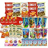 Healthy Snacks, Drinks, Juice, and Junk Food for Kids after School, Lunch Box (40 Count) Variety Pack with Cookies, Goldfish, Pringles Chips, Crackers, and Juices: Caprisun, Honest Kids and Kool Aid