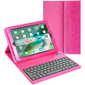 Alpatronix KX100 Bluetooth iPad Keyboard Case with Removable Wireless Keyboard, Folio Protection & Built-in Tablet Stand for iPad 4, 3, 2, 1 [iOS 10+ Support]