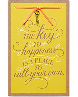 american greetings key to happiness new home congratulations card with ribbon