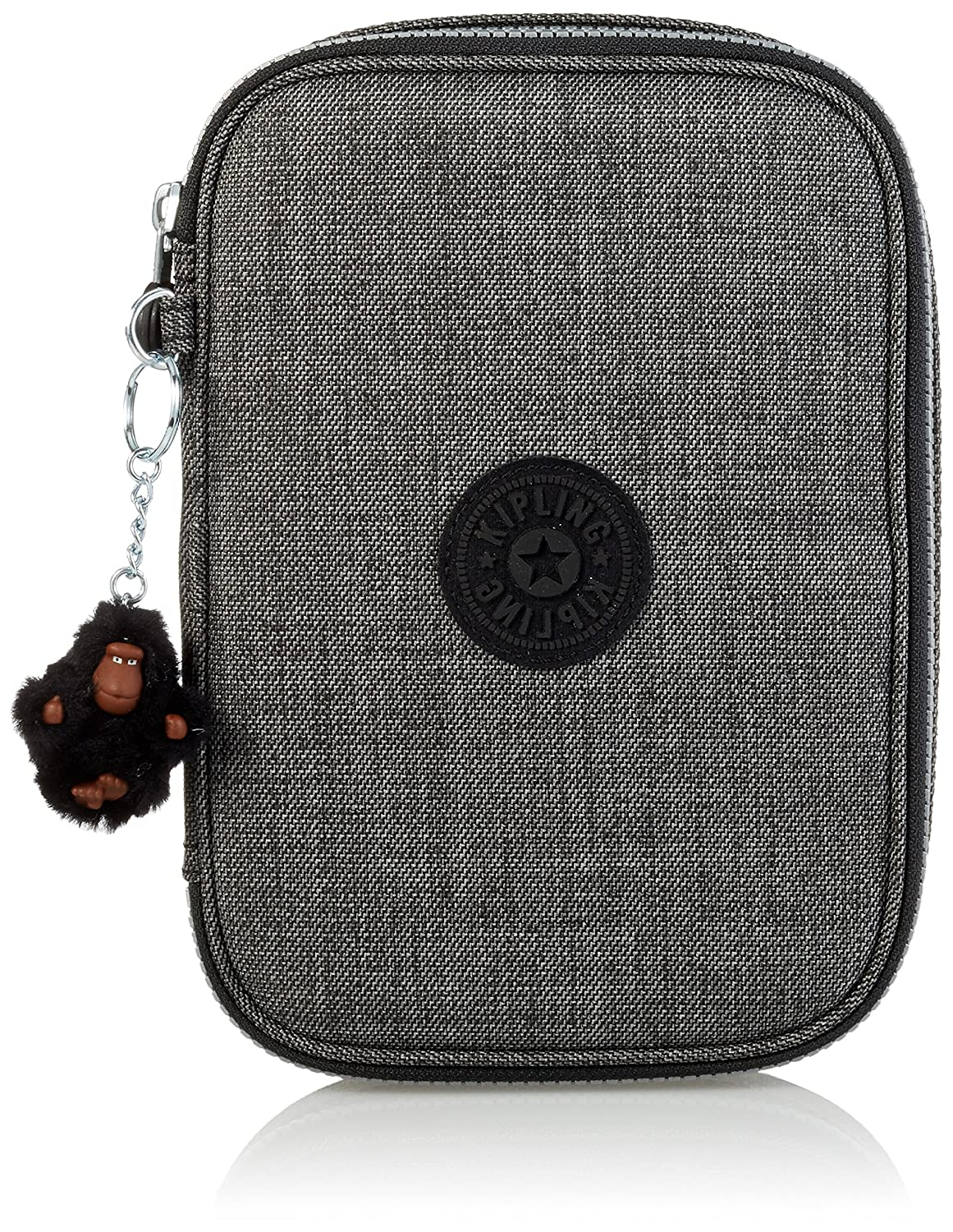 Kipling - 100 PENS - Large Pen Case - Jeans Grey - (Grey)