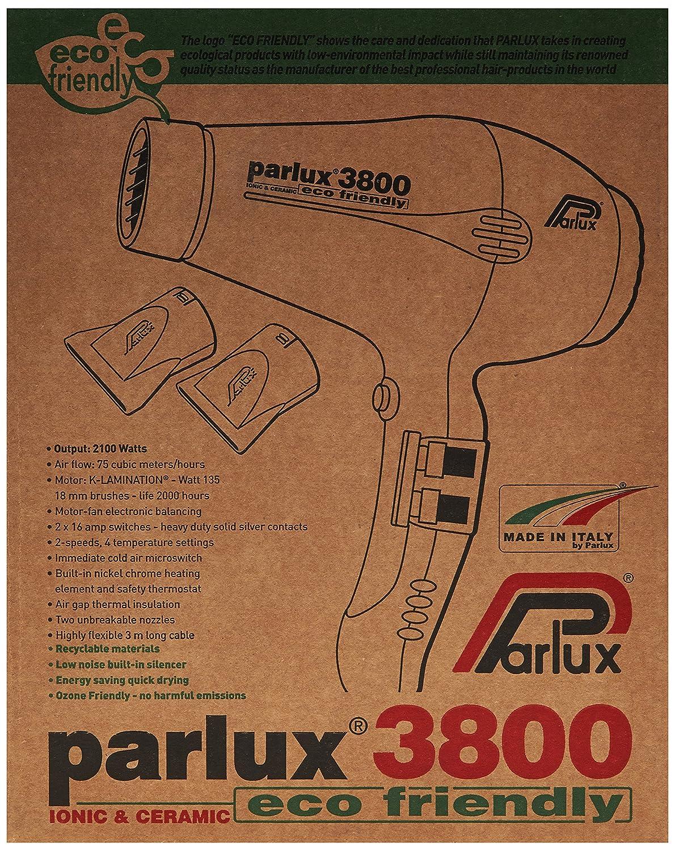 Parlux secador 3800 Eco Friendly Cerámica Iónico rosa 2100 W: Amazon.es: Salud y cuidado personal