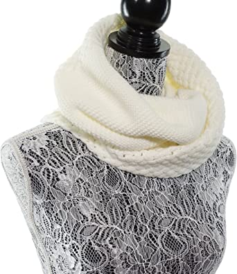 LADIES CHUNKY THICK KNIT GIRLS SNOOD// SCARF CREAM COLOUR NEW ONE SIZE
