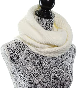 4da8e40795ef7 Chunky Infinity Scarf Soft Warm Cozy Scarfs for Women Circle Knit Winter  Scarves - Off White at Amazon Women's Clothing store:
