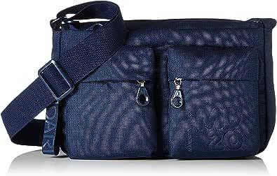 Mandarina Duck Md20 Minuteria, Bolsos Bandolera para Mujer, Azul, 9x18x28 Centimeters (B x H x T)