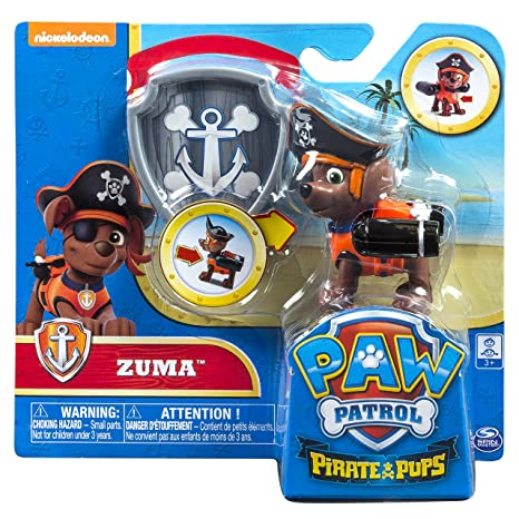 Amazon com: Spin Master Paw Patrol Pirate Pups Zuma Exclusive Figure