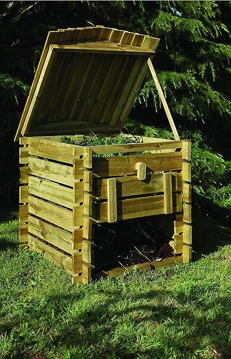 Decorativa de madera versátil forma de colmena – Contenedor para compost (Madera Fsc – 15