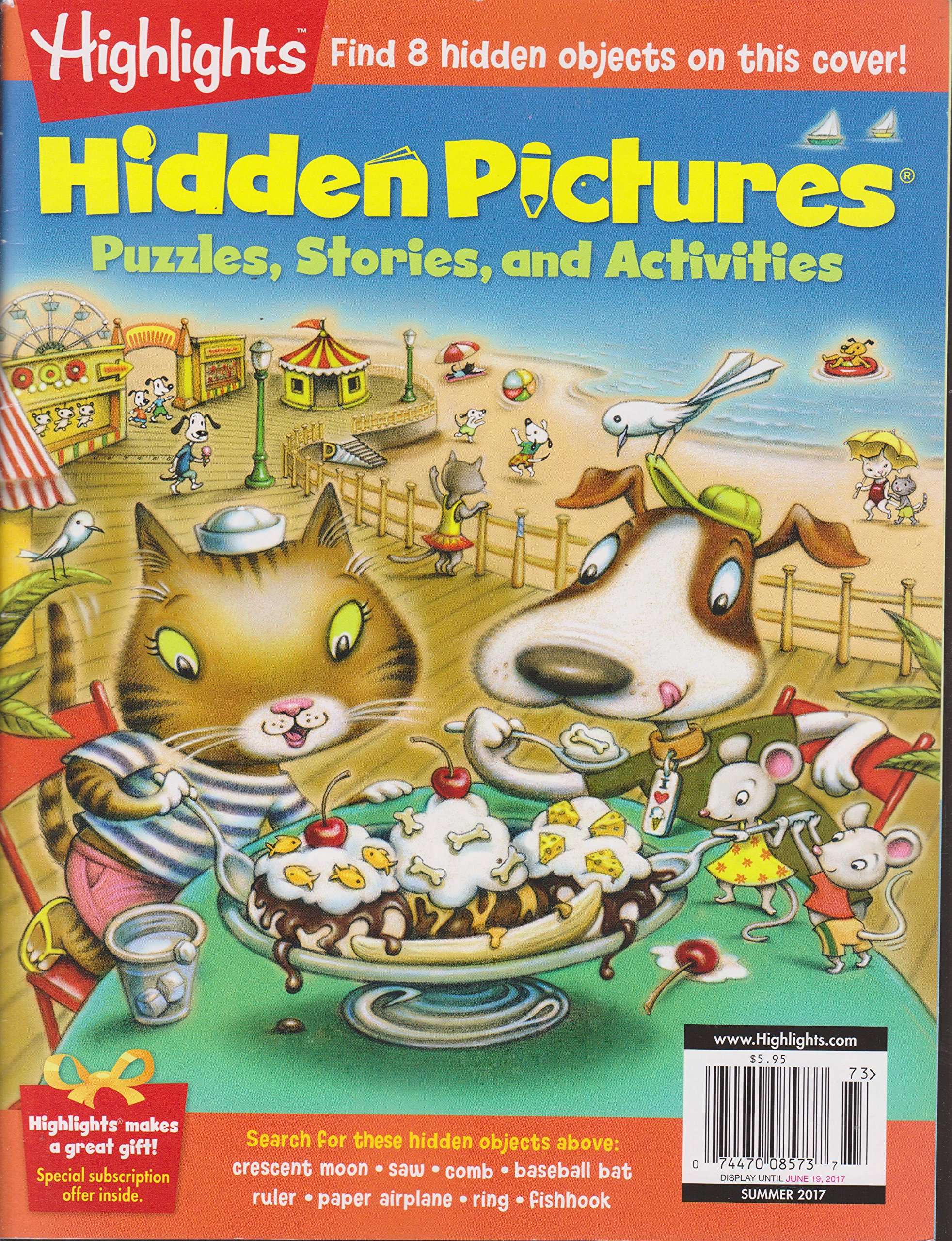 Highlights Hidden Pictures Magazine Summer 2017 Various Amazon Com