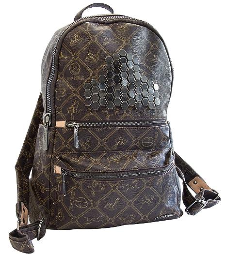 ac923617ae829 Italienische Damen Rucksack Giulia von Pieralli Schultertasche  Damenrucksack Tasche Rucksäcke (Braun)