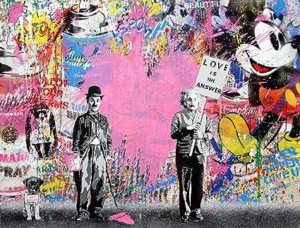 A0 art painting  poster street graffiti banksy alley wall canvas Australia