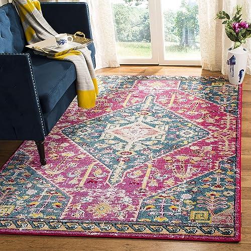 Safavieh Madison Collection MAD301U Area Rug, 9 x 12 , Pink Turquoise