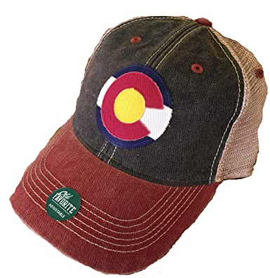 892359b46608f Legacy Athletic Colorado Flag Trucker Cap (Black Cardinal) at Amazon Men s  Clothing store