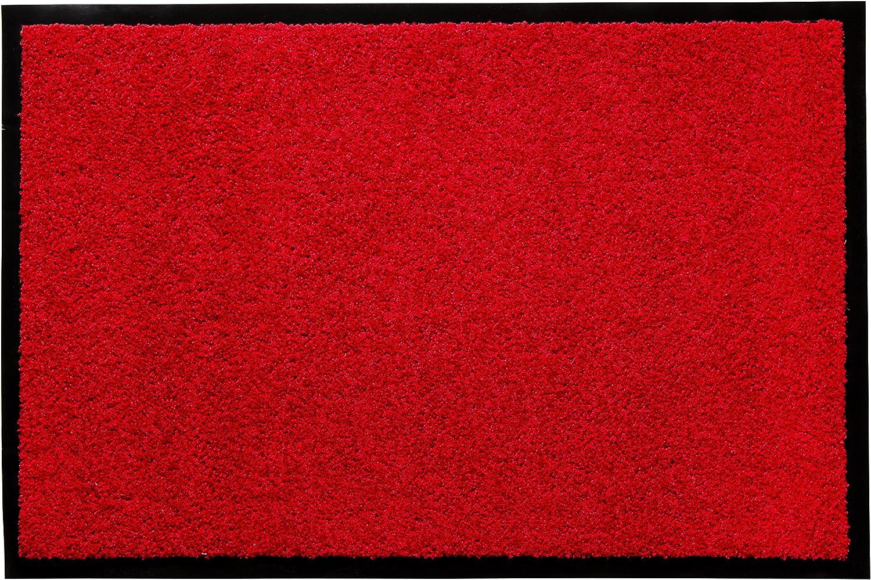 andiamo Felpudo para Puerta – Entrada Interior y Exterior – Antideslizante Lavable Rojo Polipropileno – 120 x 180 cm – 5 mm de Altura