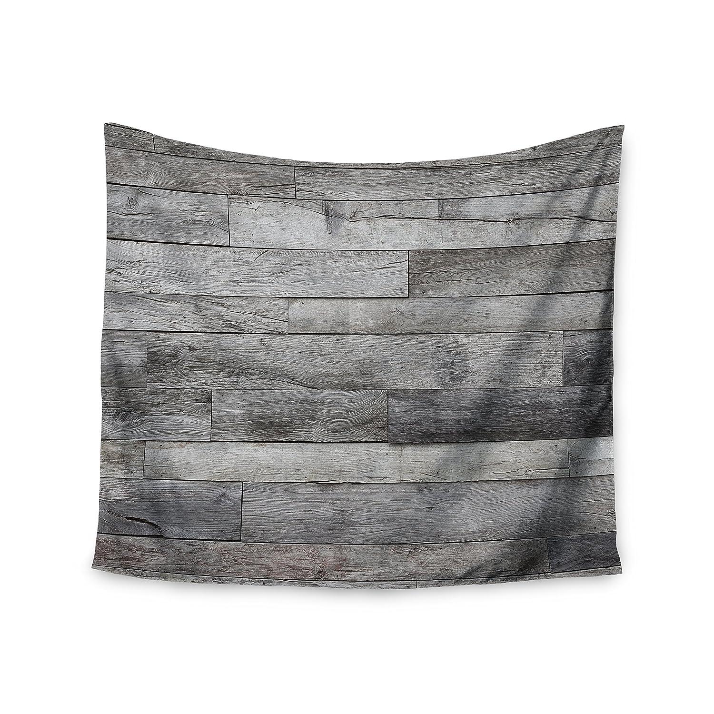 Kess InHouse Susan Sanders Rustic Wood Gray Beige Photography 68 x 80 Wall Tapestry