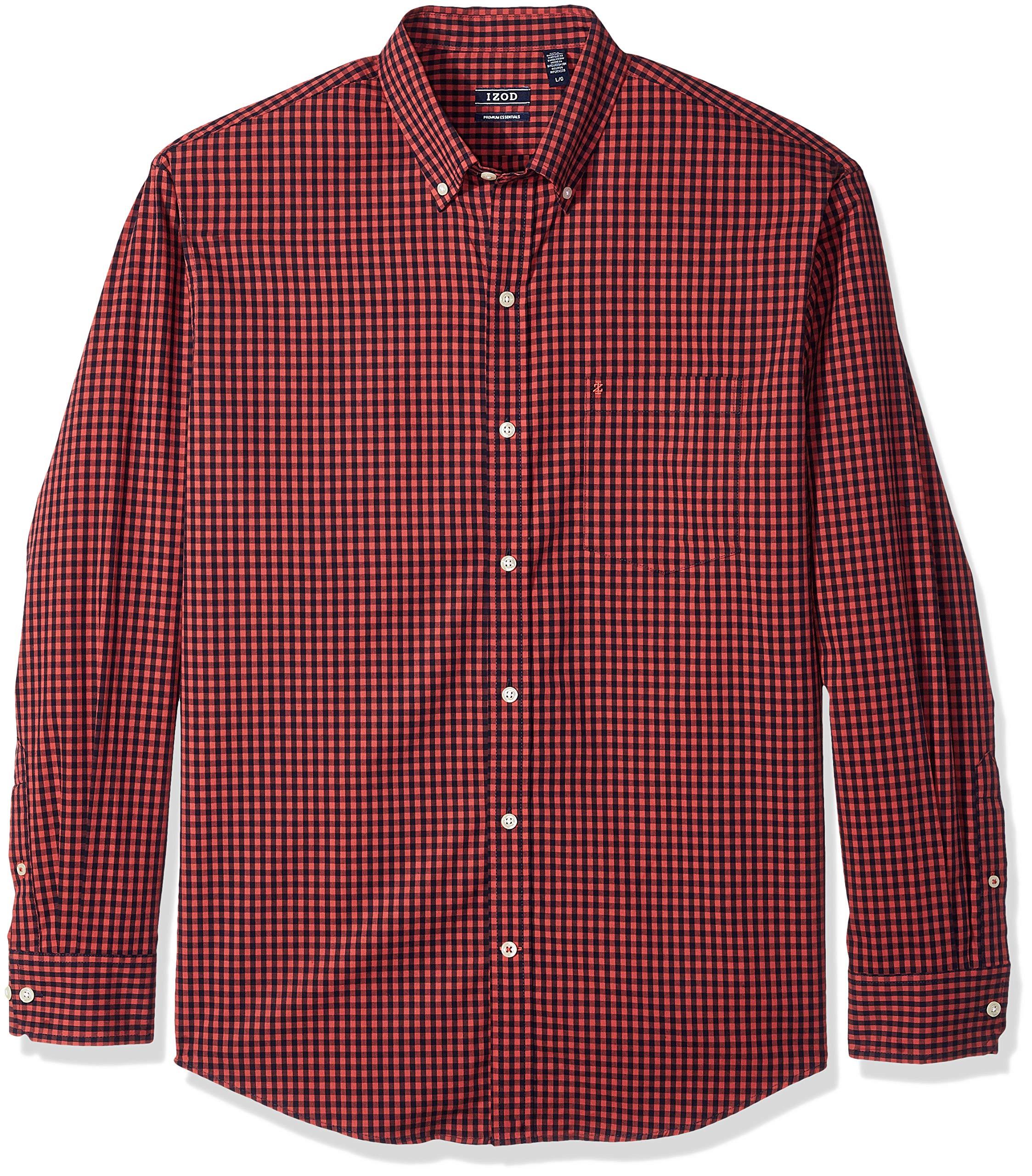 Men/'s Big /& Tall IZOD Premium Essentials Natural Stretch Cotton Button Up Shirt