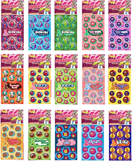 Dots Lime Just For Laughs Dr Fluffy Stuff Cotton Candy Stinkys Scratch N Sniff Stickers 3-Pack- Dots Strawberry