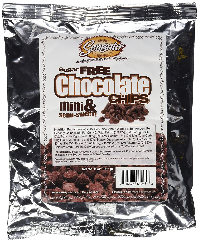 Chocolate Chips, Sugar-Free, Mini, Semi-Sweet