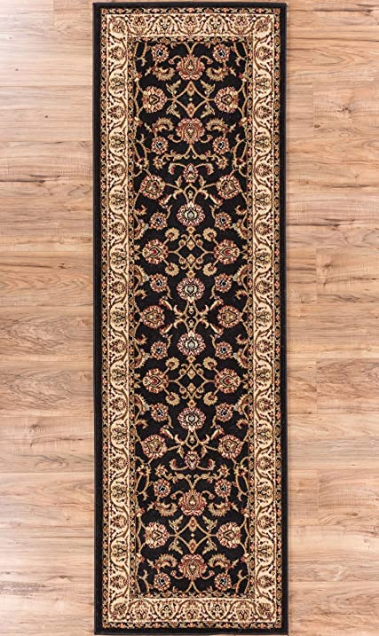 Noble Sarouk Black Persian Floral Oriental Formal Traditional Rug 3x10 27quot X
